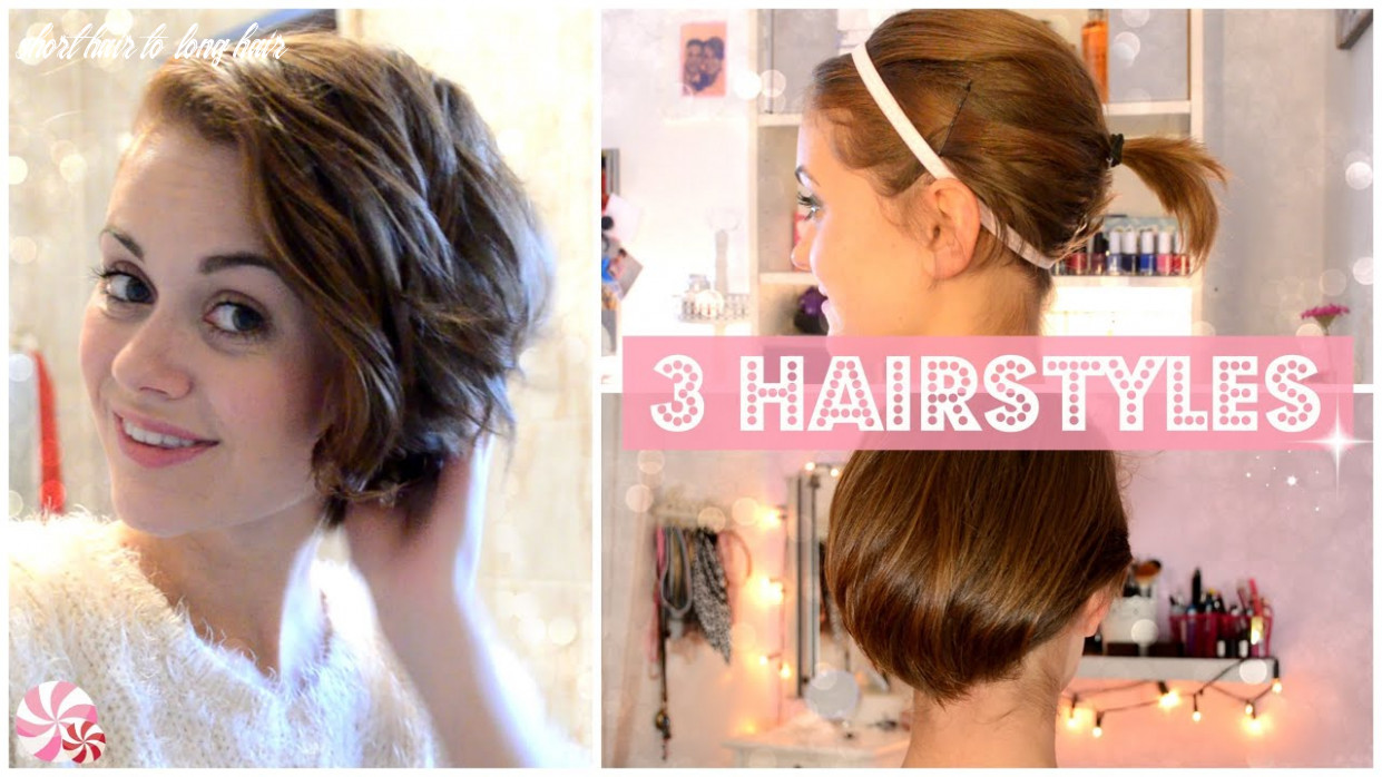 From short to long: 10 easy hairstyles [english] short hair to long hair