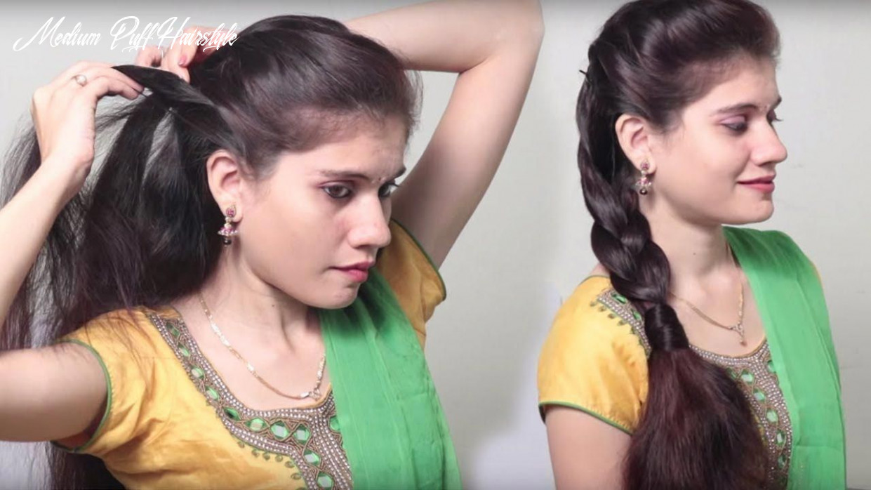 Front puff hairstyle step by step   quick & simple easy hairstyles