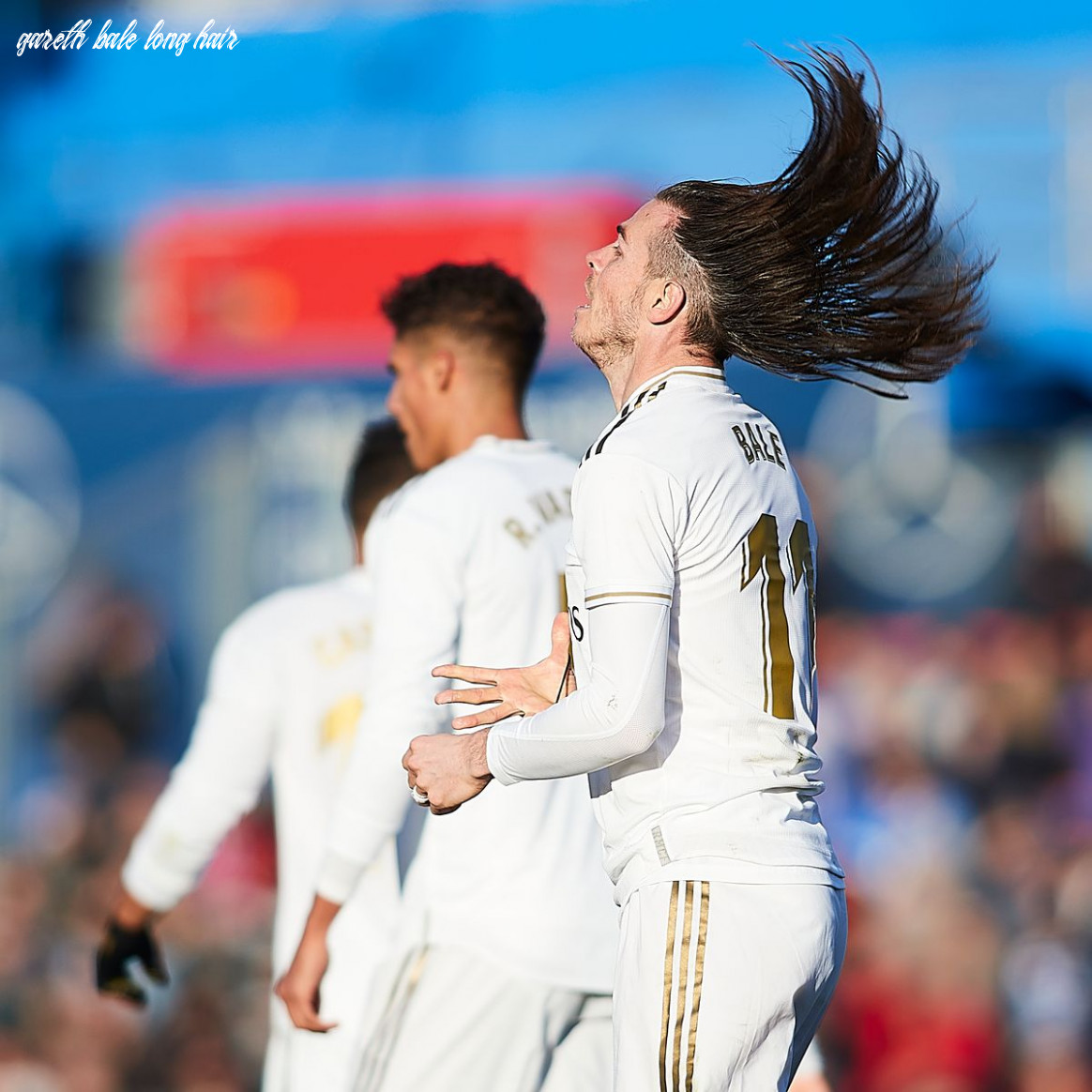 Gareth bale unfurls famous man bun in the middle of real madrid