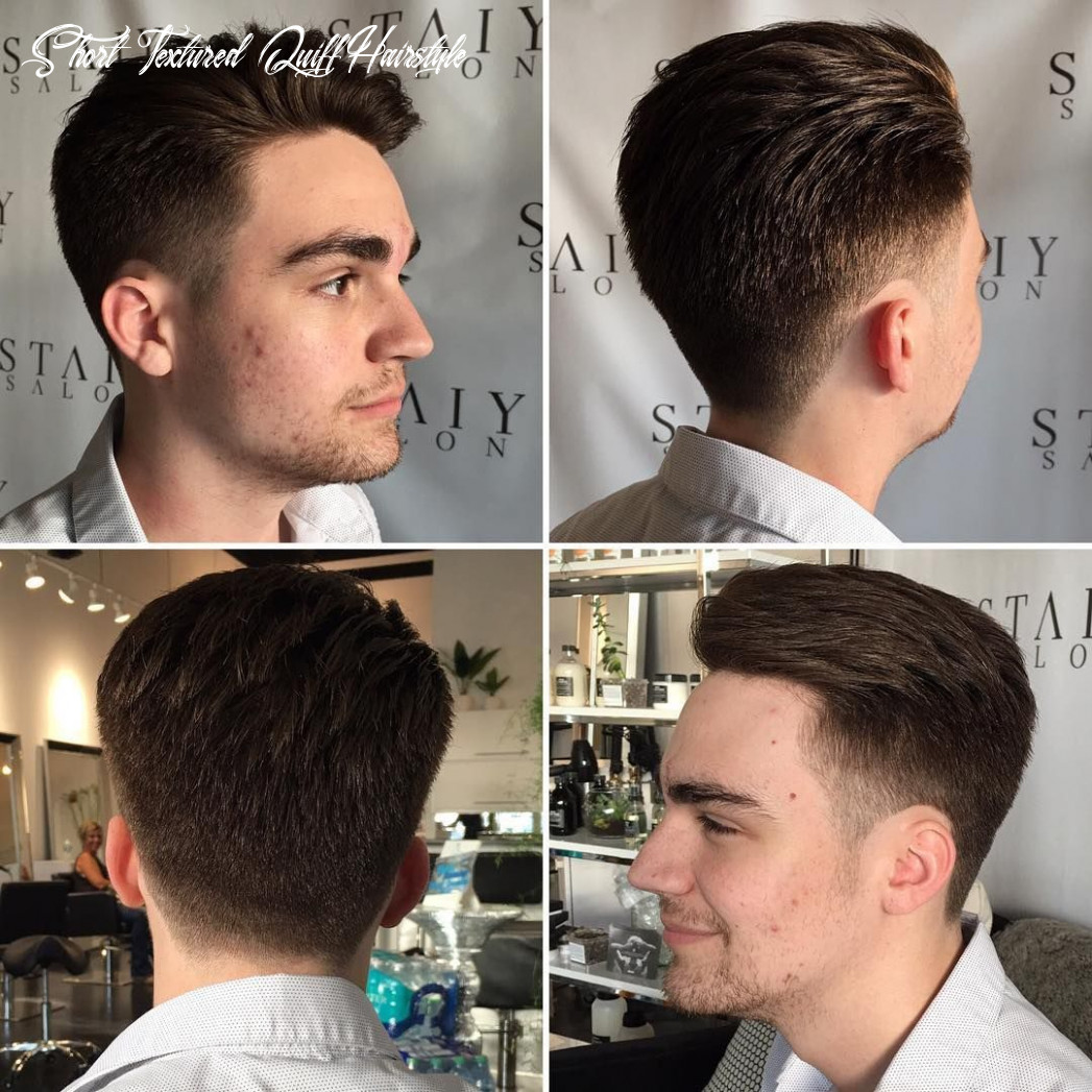 Get styling tips for this mens short textured quiff with tapered