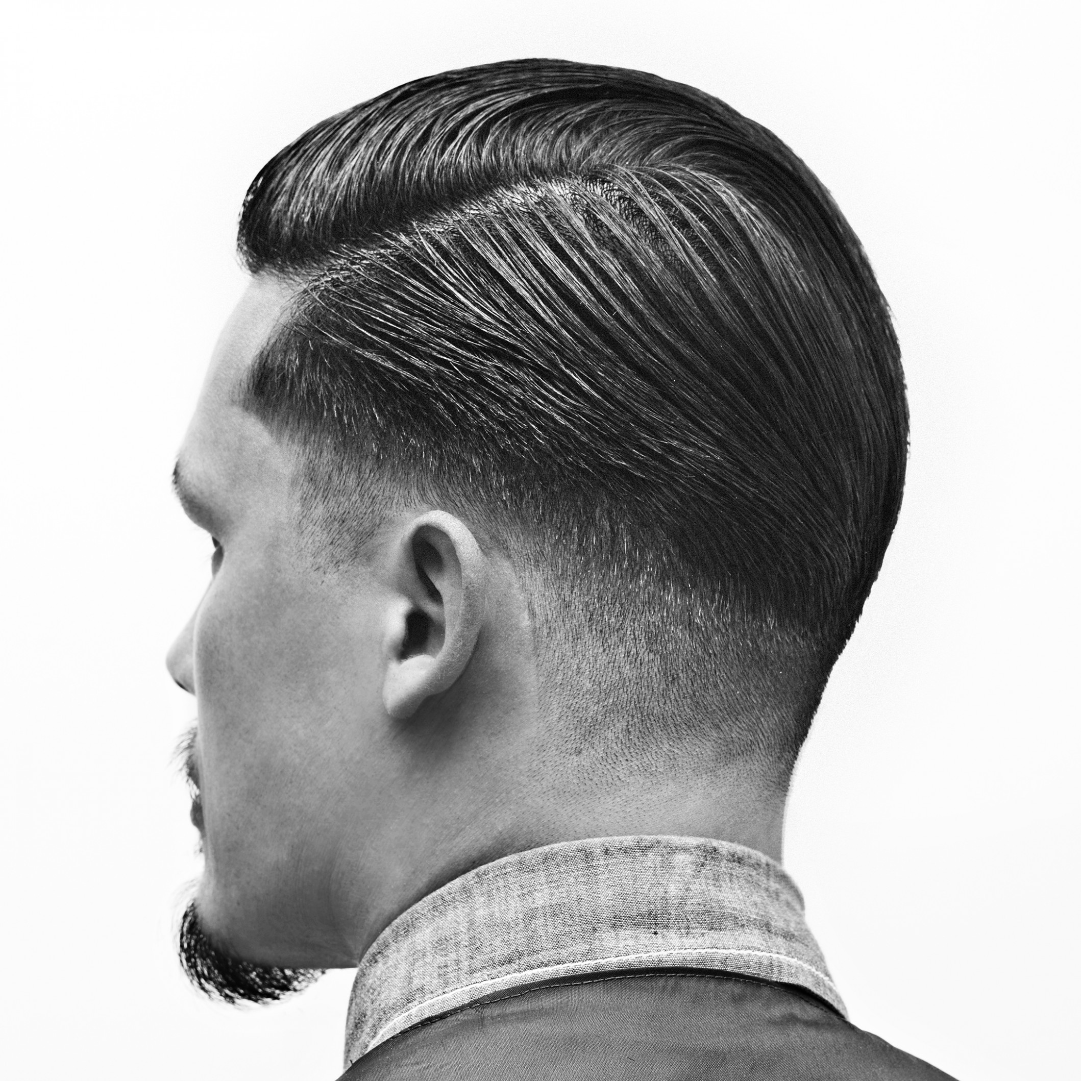 Get the low fade pompadour look | reuzel pomade low fade pompadour