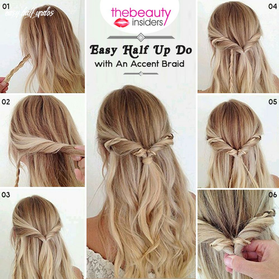 Get this easy half up do with an accent braid #hairstyle for this