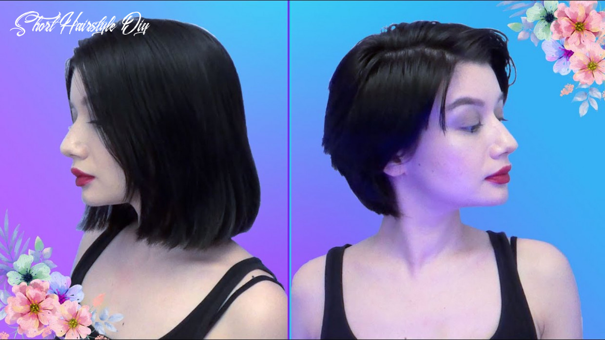 Giving myself a short haircut! (diy: short haircut) short hairstyle diy