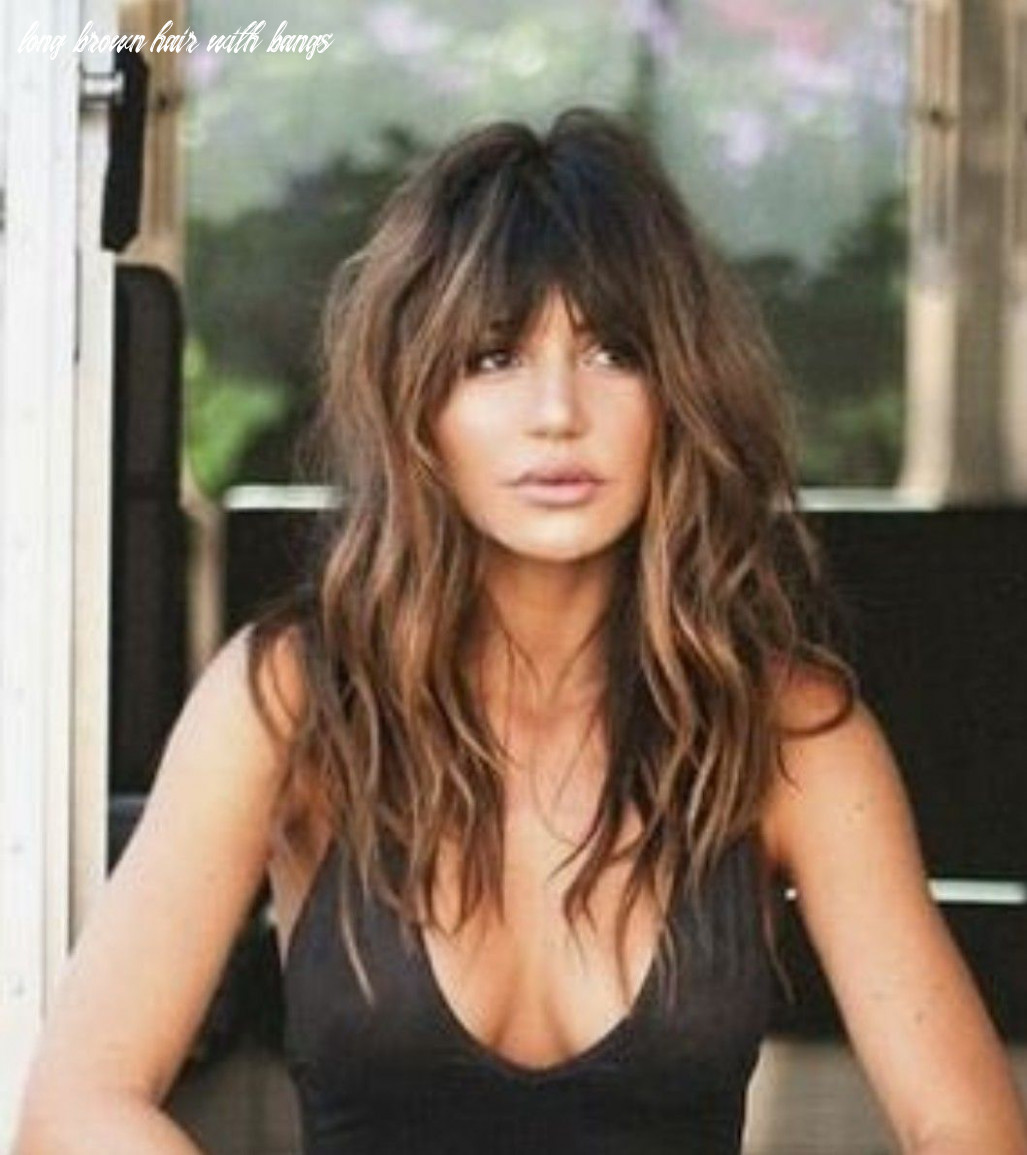 Gorgeous long wavy hair with bangs // love the dark bangs and