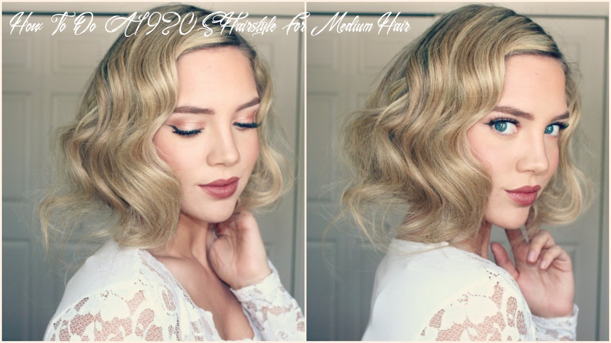 Great gatsby faux bob || 12s inspired hair how to do a 1920s hairstyle for medium hair