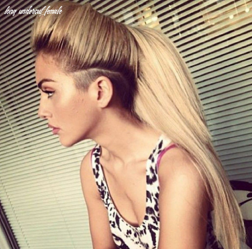 H a i r (with images) | undercut long hair, long hair shaved sides