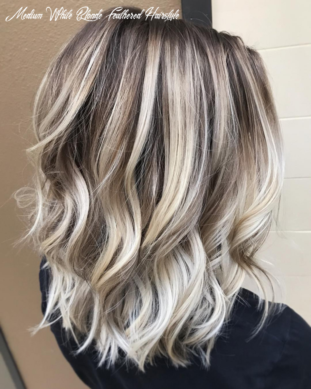 Hair cut style for women 9 medium white blonde feathered hairstyle