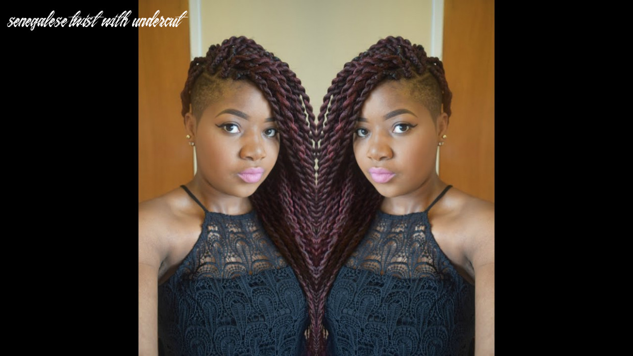 Hair tutorial :jumbo senegalese twists/ rope twists/ two strand twists with shaved sides senegalese twist with undercut