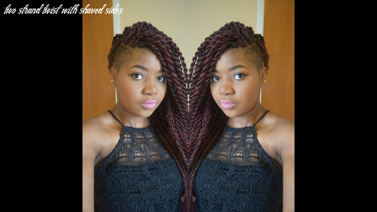 Hair tutorial :jumbo senegalese twists/ rope twists/ two strand twists with shaved sides two strand twist with shaved sides