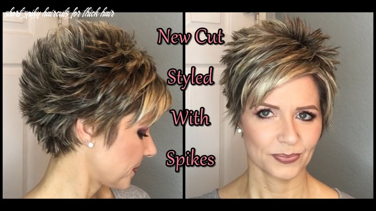 Hair tutorial: my new cut spiked style! short spiky haircuts for thick hair