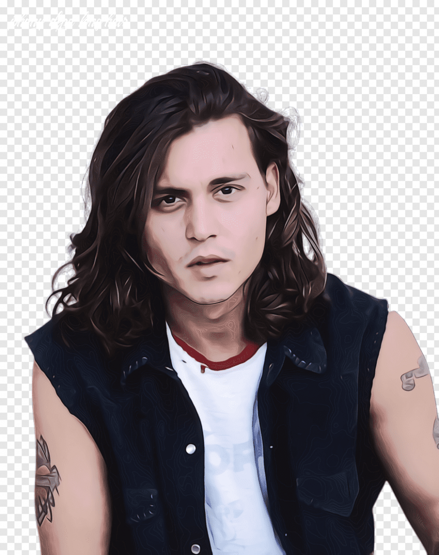 Hair, Watercolor, Paint, Wet Ink, Johnny Depp, Hairstyle, Long ...
