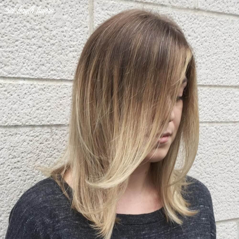 Haircut in layers new hair style mid length layers