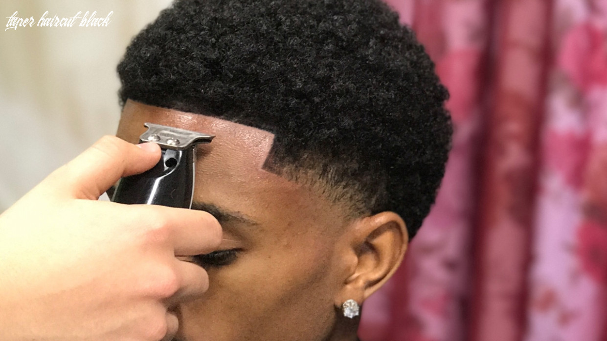 Haircut tutorial: afro taper/blowout by 9 year old barber taper haircut black