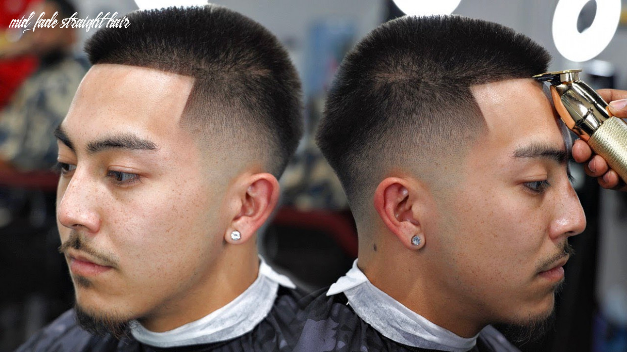 Haircut tutorial: mid low fade | how to shape straight hair mid fade straight hair