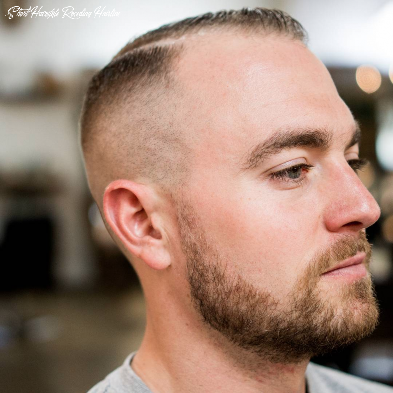 Haircuts for an early stage receding hairline fitted short hairstyle receding hairline