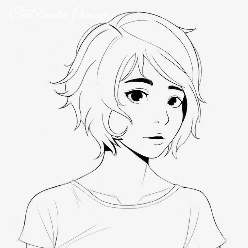 Hairstyle Drawing Image result for short hairstyles drawing in ...