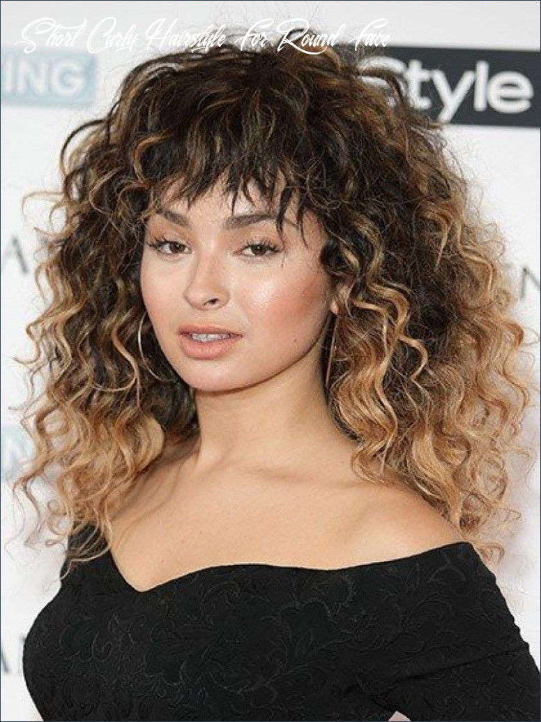 Hairstyle for curly short hair round face inspirational curly hair