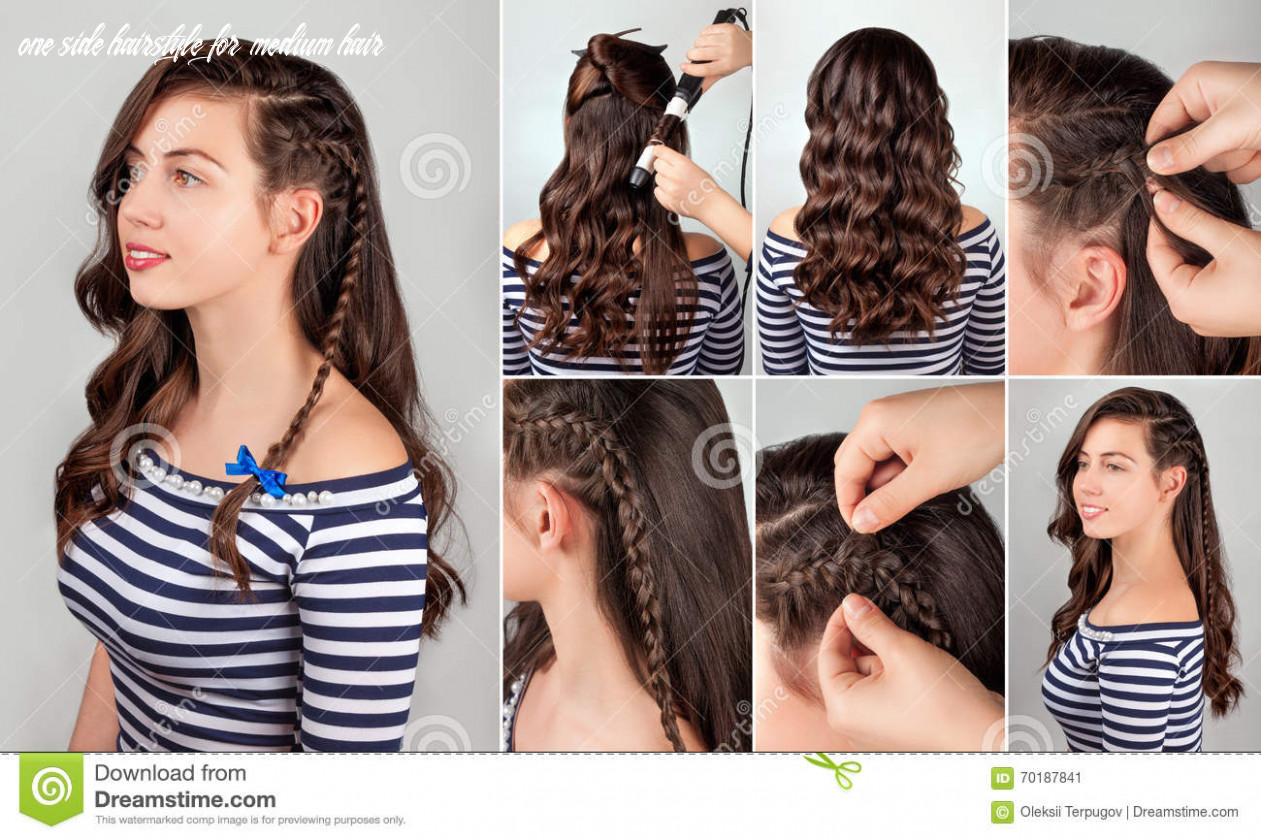 Hairstyle for long hair tutorial stock image image of everyday