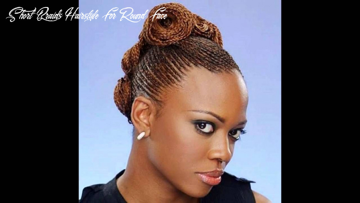 Hairstyle for round face black ladies ponytail braids hairstyle