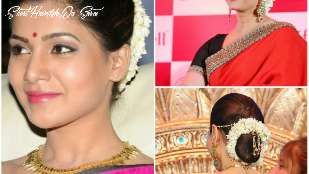 Hairstyle for short hair on saree youtube short hairstyle on saree