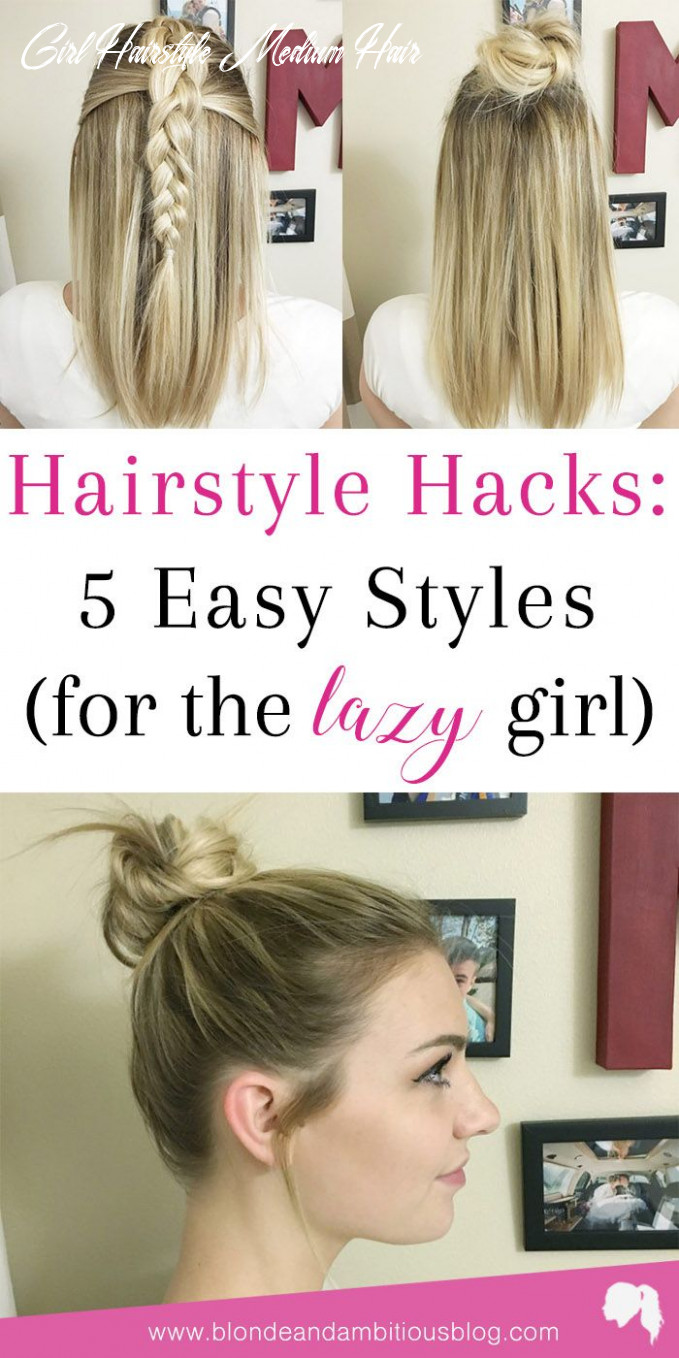 Hairstyle Hacks: 11 Easy Styles | Sporty hairstyles, Lazy girl ...