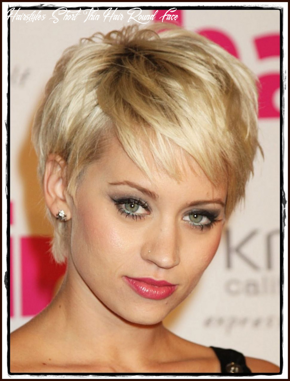 Hairstyle round face fine hair workout short hairstyles for thin