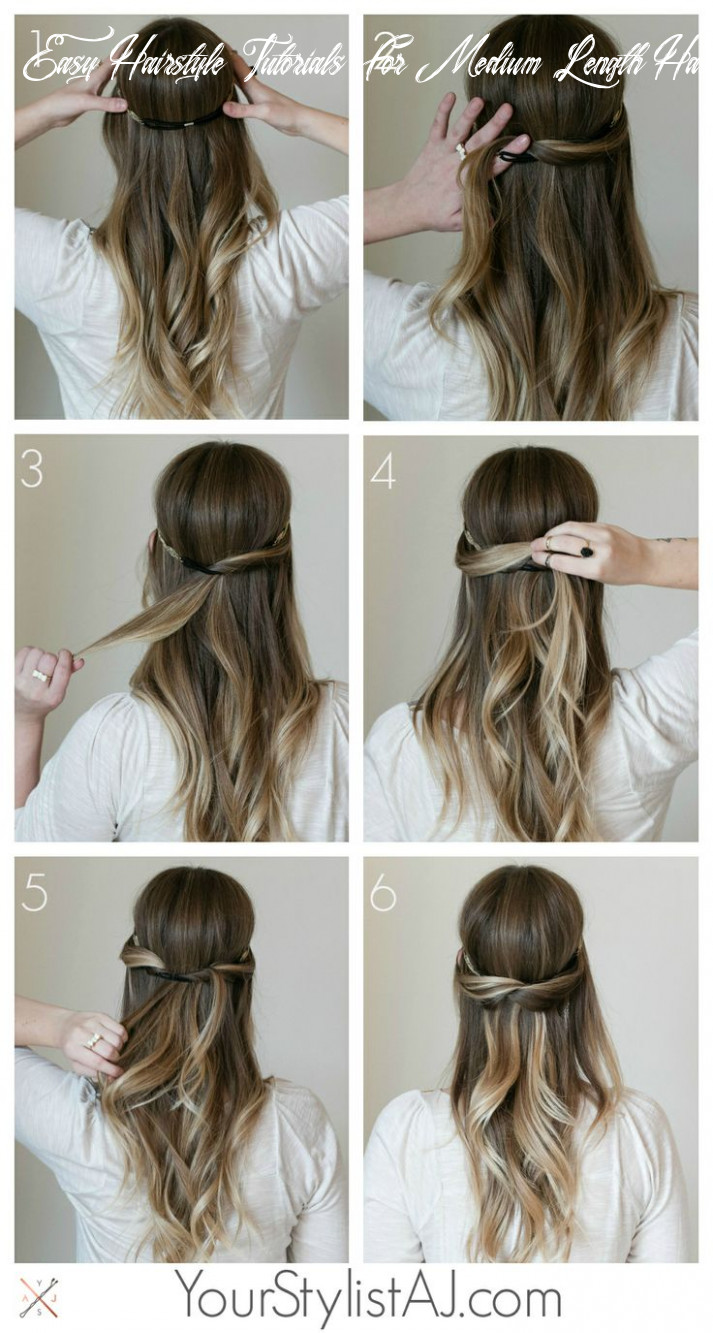 Hairstyle tutorial: simple hairstyle tutorials easy hairstyle tutorials for medium length hair