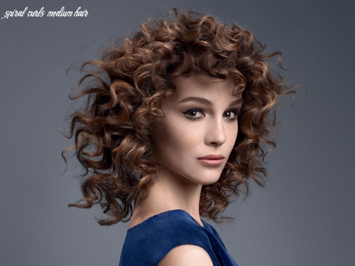 Hairstyles and new trend hair colors for the season spiral curls medium hair