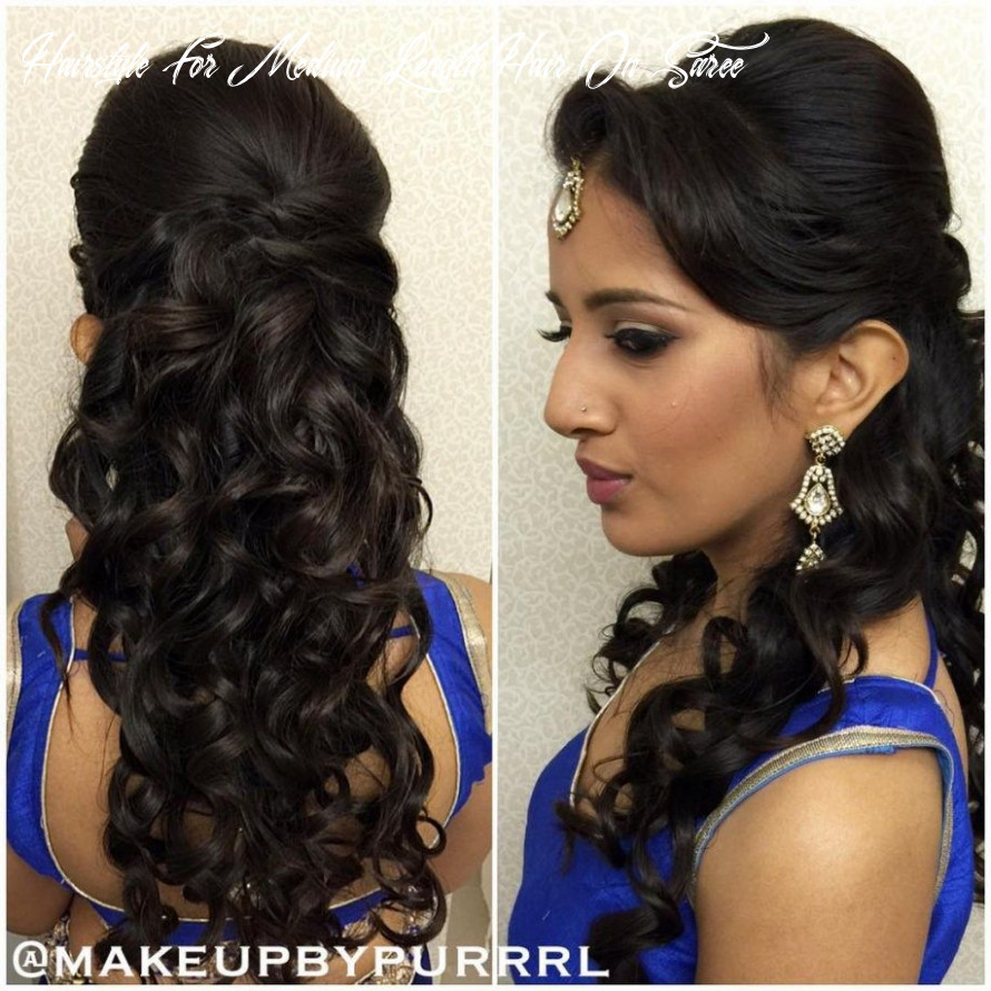 Hairstyles for curly hair with saree | womens hairstyles, diy