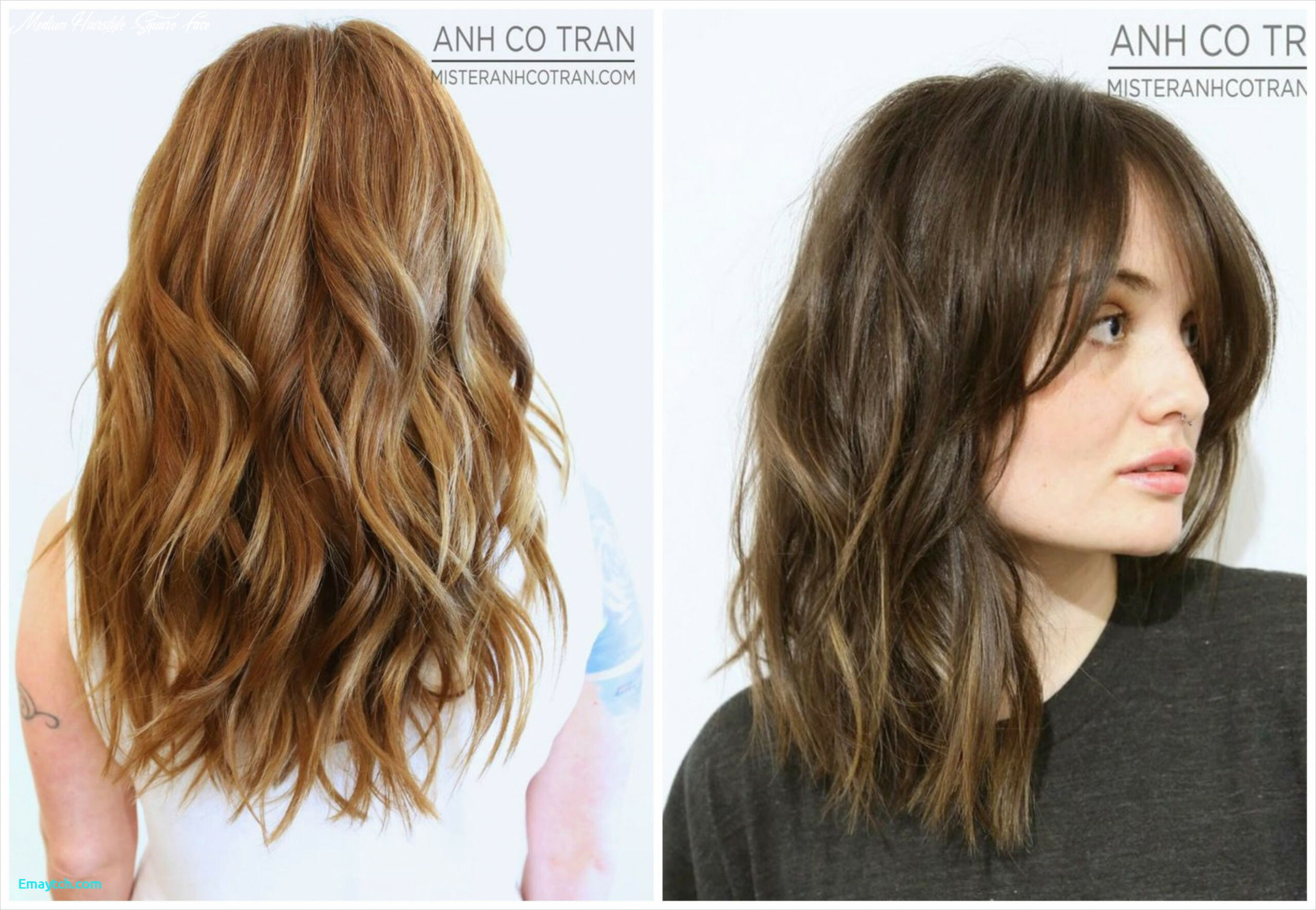 Hairstyles for fine hair and square face fresh 12 medium length