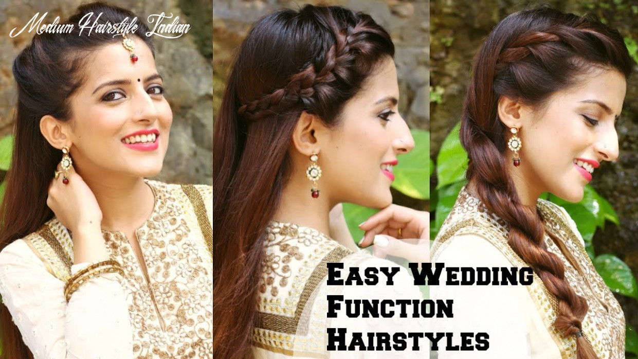 Hairstyles for medium hair indian pretty 9 easy hairstyles for