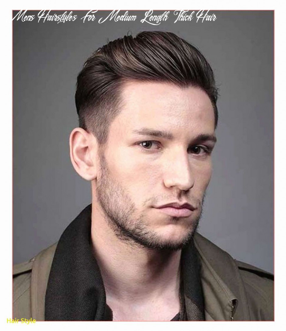 Hairstyles for men with thick hair medium length inspirational