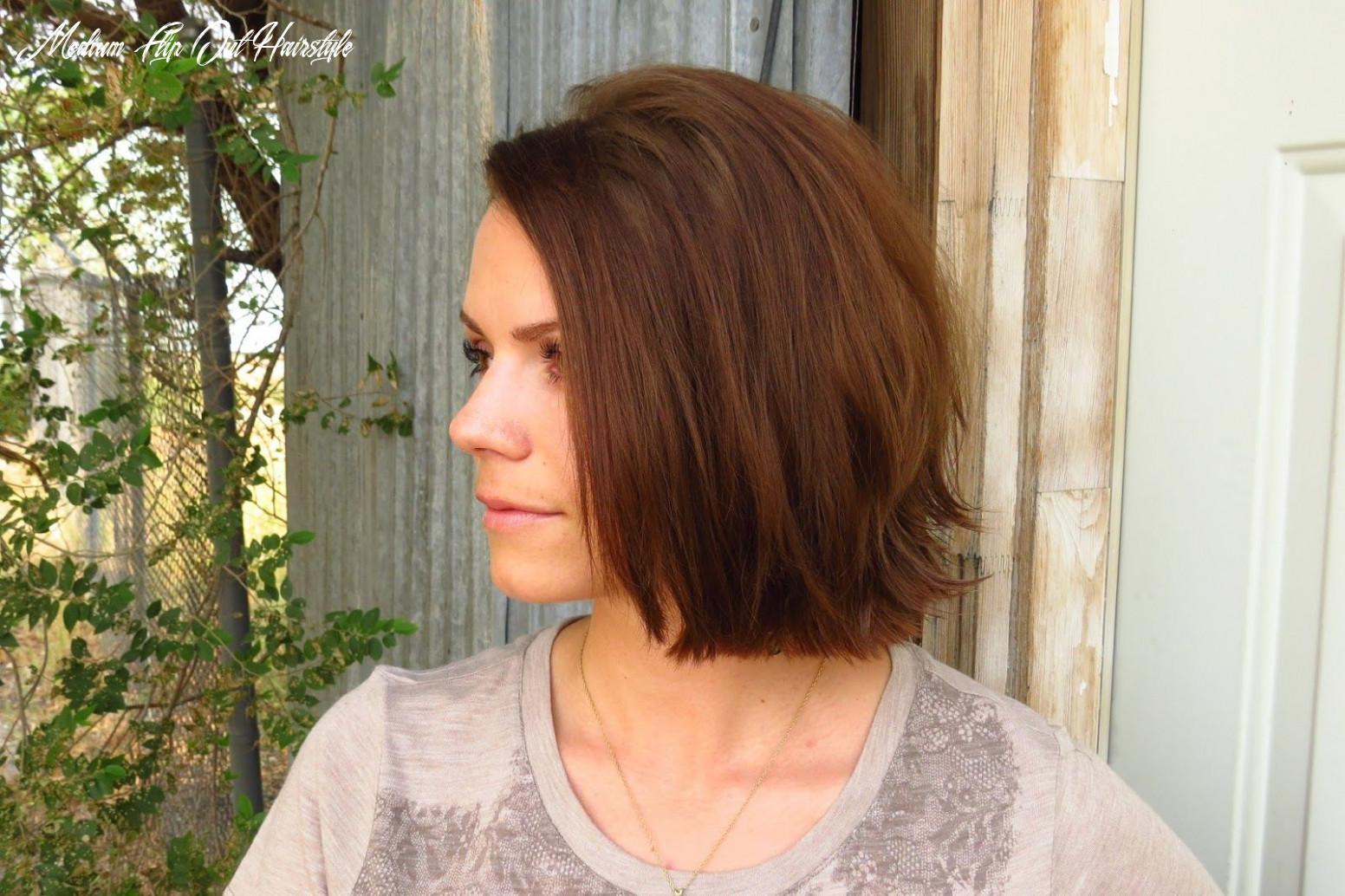 Hairstyles for short hair, straight in front flipped out in back