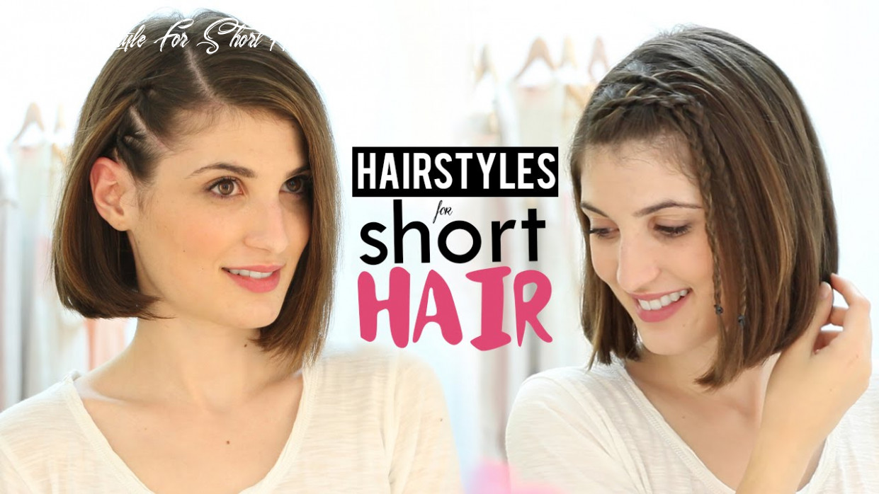 Hairstyles for short hair tutorial cute hairstyle for short hair youtube