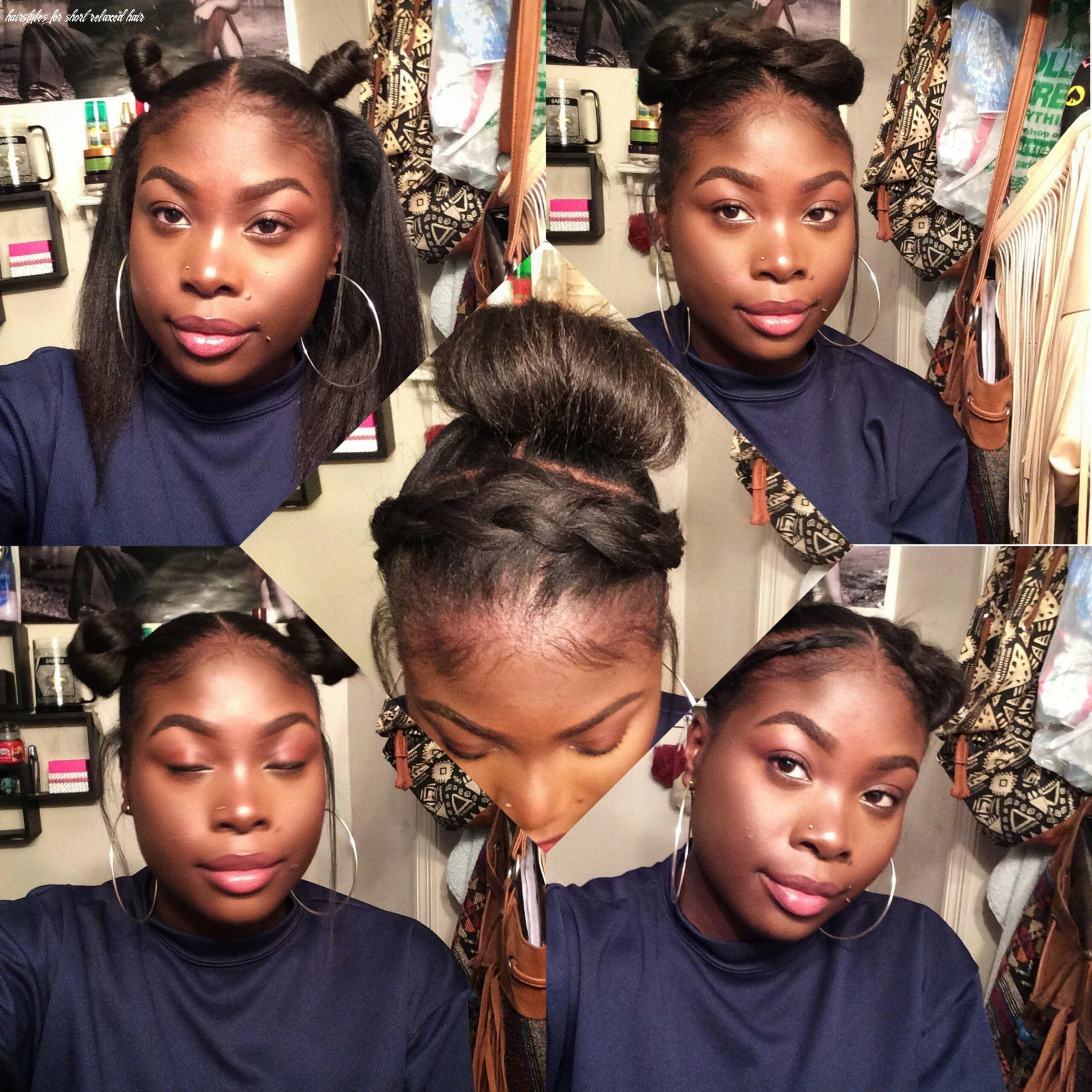 Hairstyles for short relaxed hair | short relaxed hairstyles
