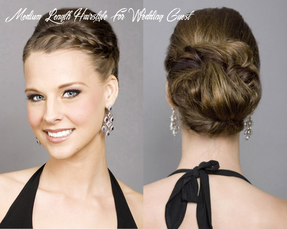 Hairstyles for wedding guests as charming as the bride with