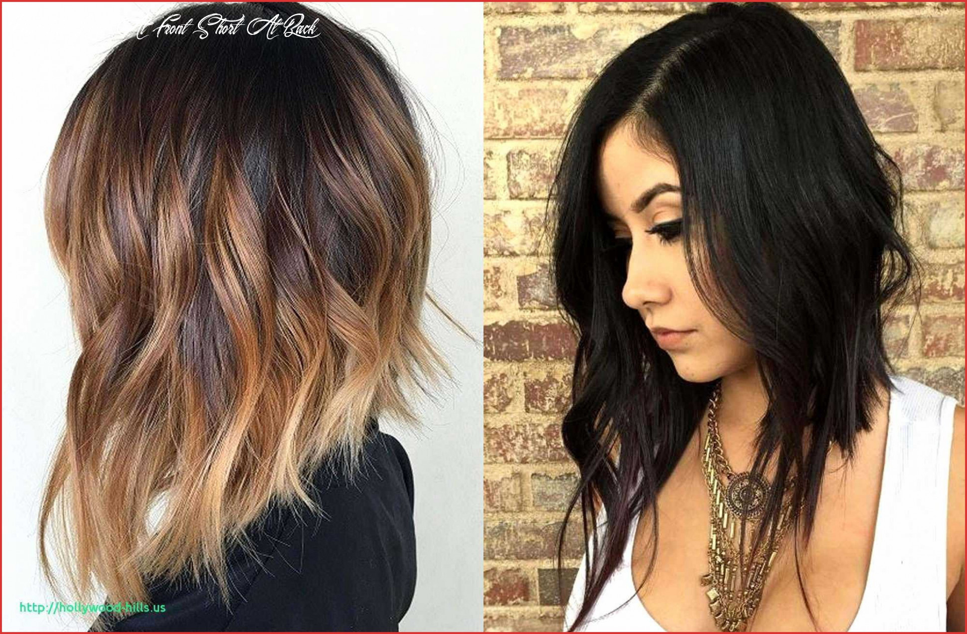 Hairstyles long in front short in back pictures best of long