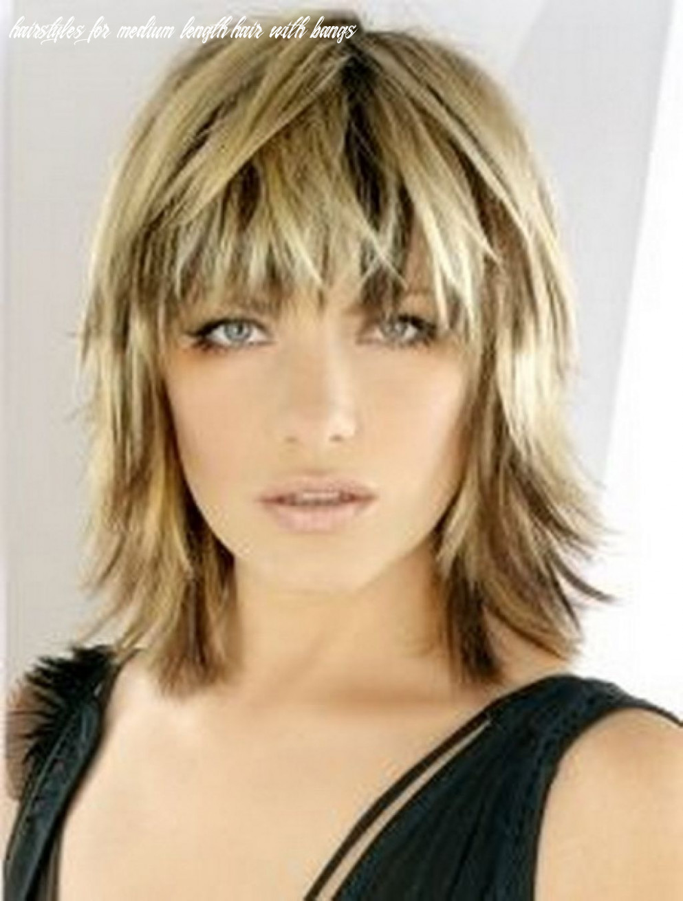Hairstyles medium length layered with bangs layers in 12