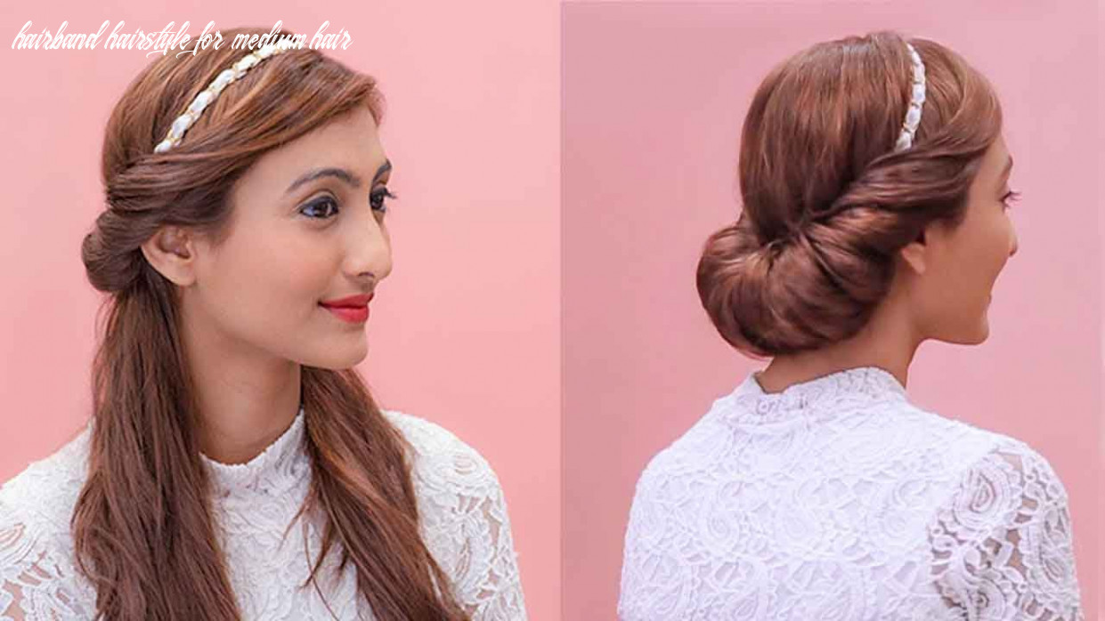 Hairstyles using a hairband   grecian updos hairband hairstyle for medium hair