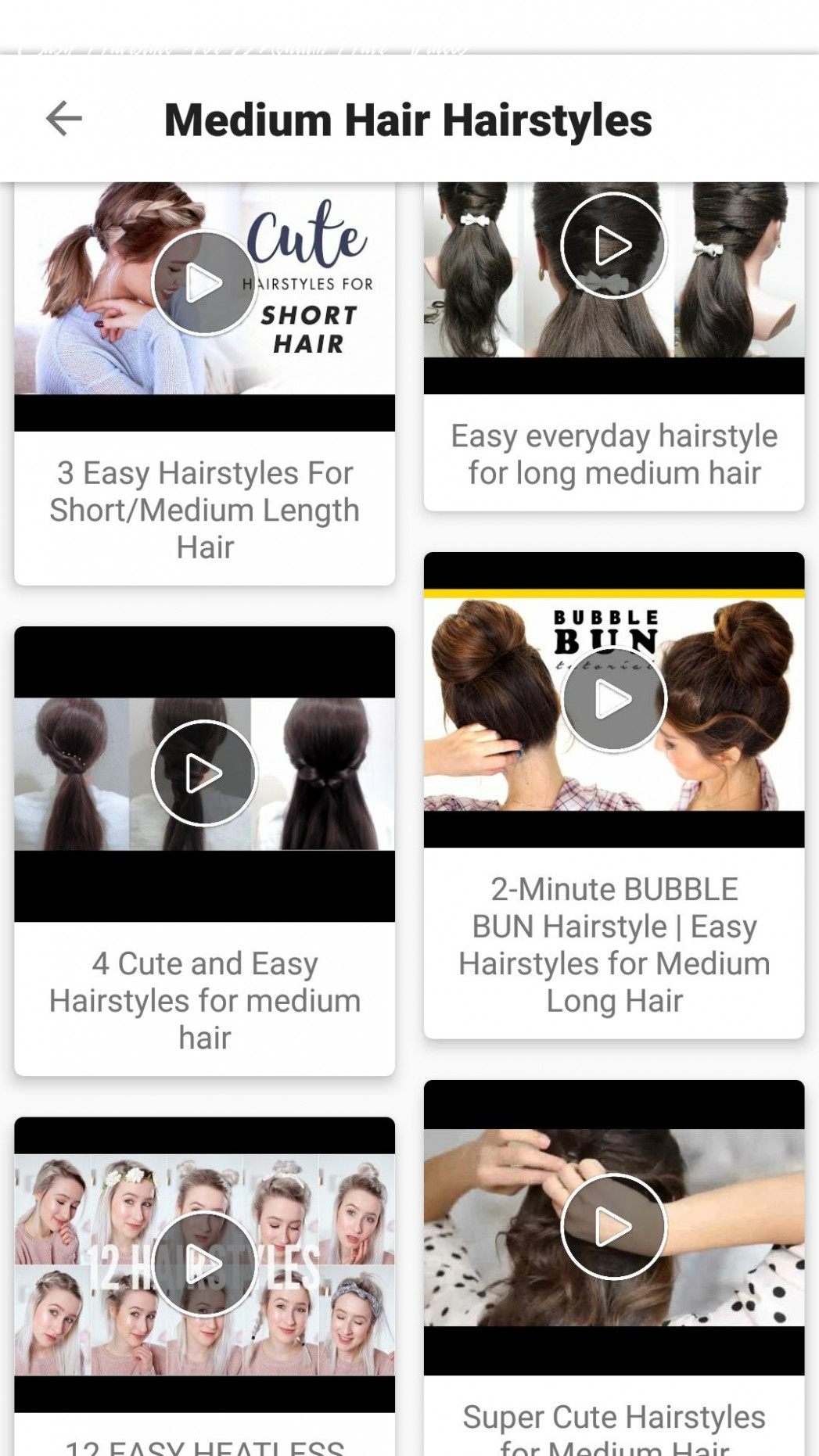 Hairstyles VIDEOS : NEW EASY Girls Hairstyles 10 for Android ...