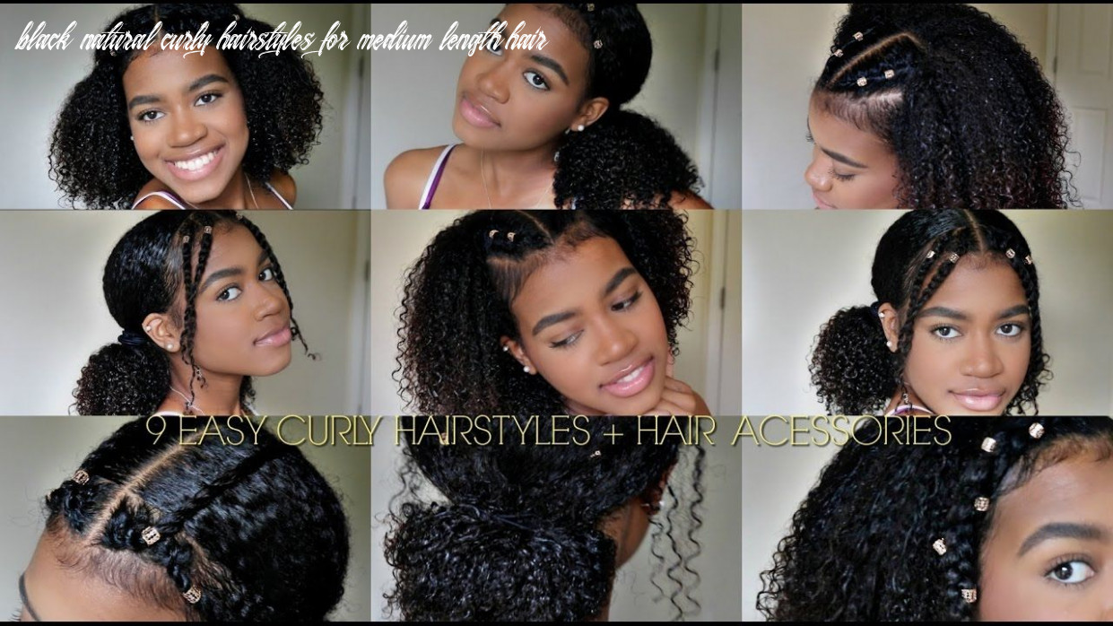 Hairstyles with curls for black girls black natural curly hairstyles for medium length hair