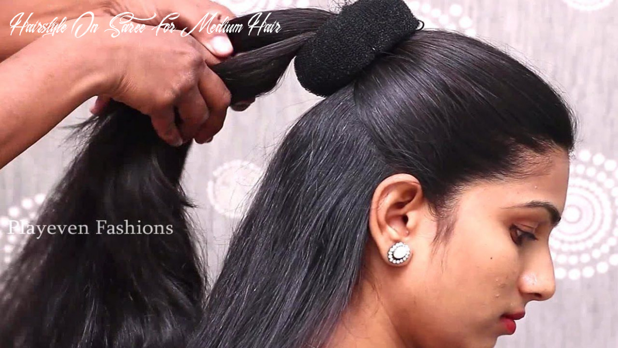 Hairstyles with saree for medium hair afro #afro #hair #hairstyles