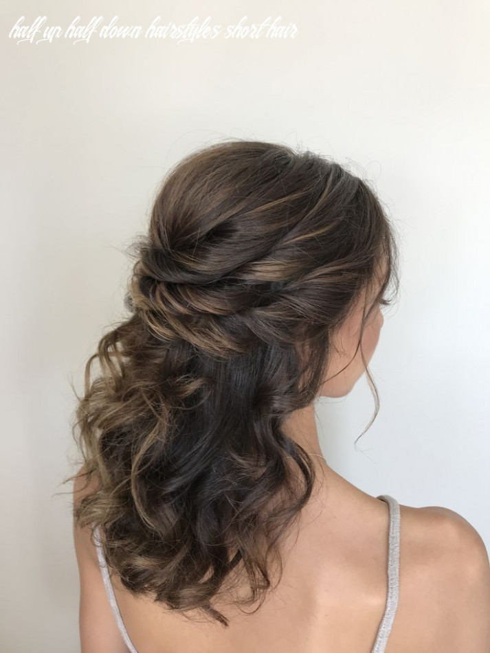Half up half down twists hairstyle for short hair | wedding
