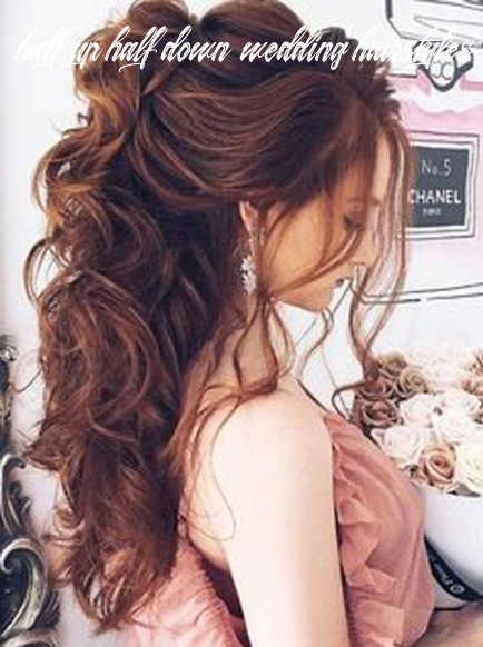 Half up half down wedding hairstyles the prettiest and most