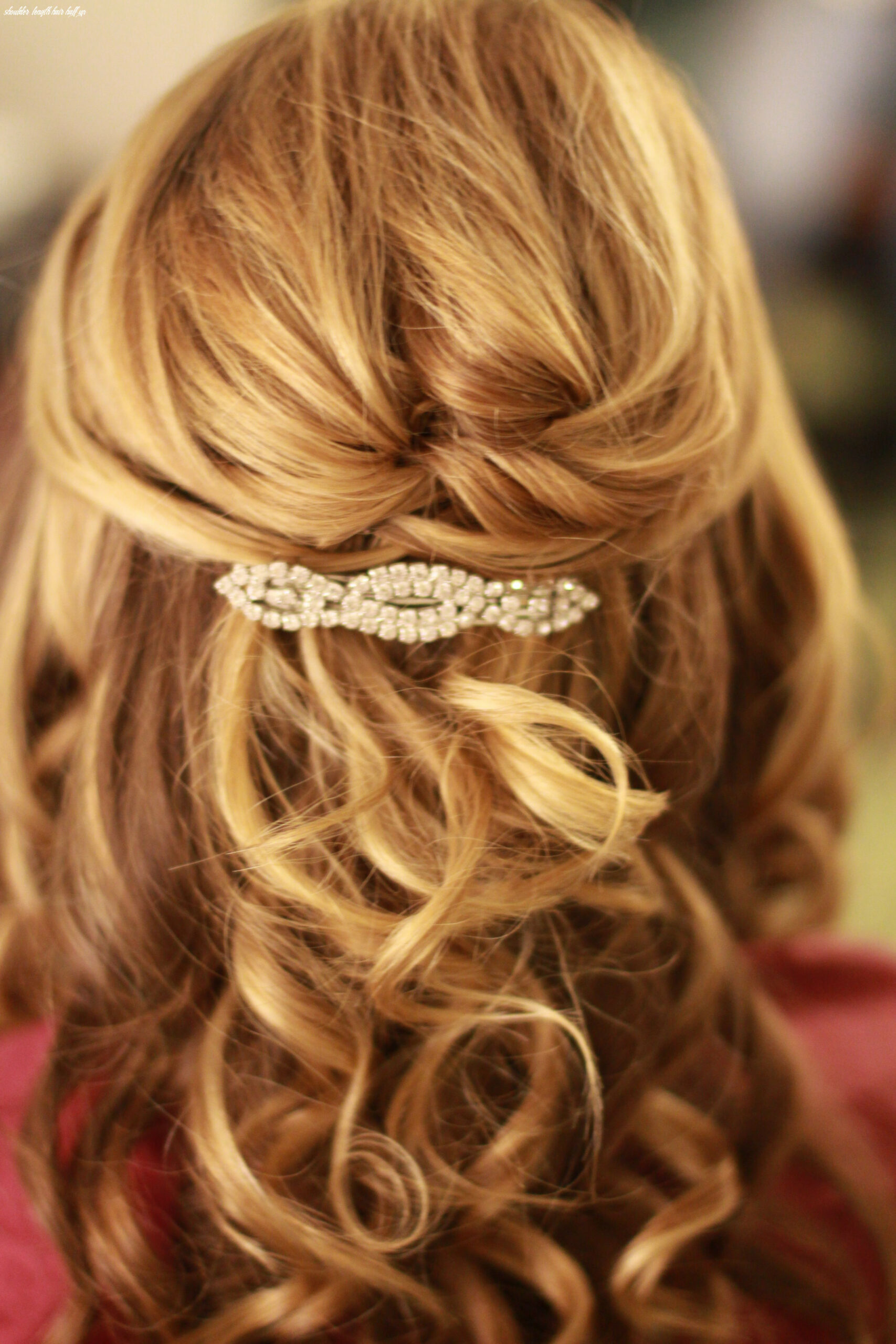 Half updo shoulder length hair (with images) | wedding hairstyles