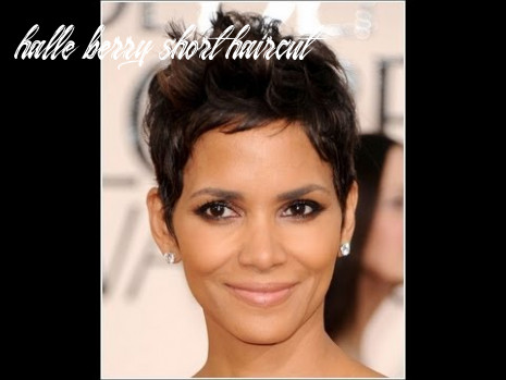 Halle berry inspired haircut tutorial halle berry short haircut