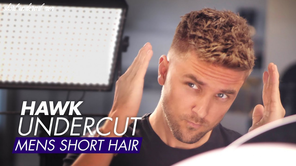 Hawk undercut men short hair for summer short undercut men