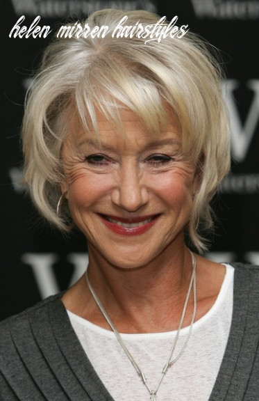 Helen mirren layered razor cut helen mirren short hairstyles