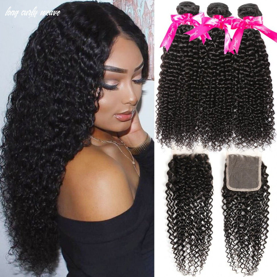 Hermosa 10a kinky curly weave human hair bundles with closure 10 10 10 10 good quality brazilian curly hair 10 bundles with closure long curly weave
