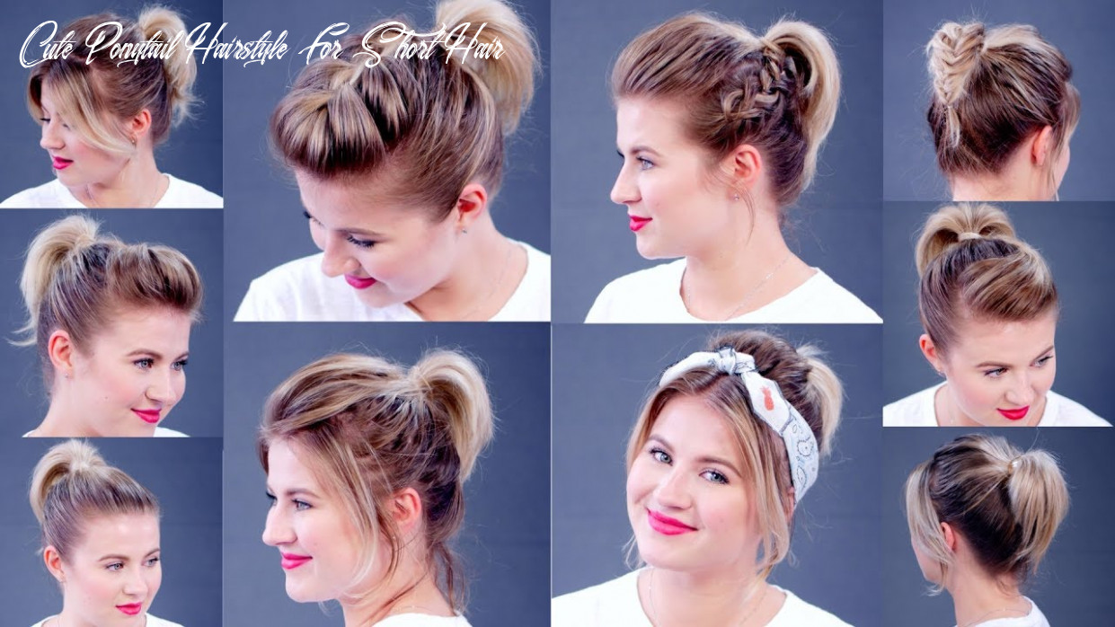 High ponytail 8 different ways | milabu cute ponytail hairstyle for short hair